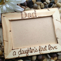Custom Rustic 4 x 6 Wood Frame - Gift for Dad
