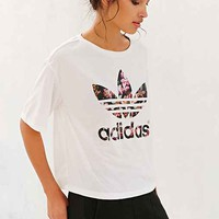 adidas Orchid Cropped Tee- White