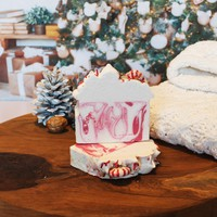 Limited Edition Seasonal Candy Cane Christmas Soap Bar