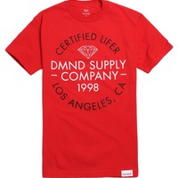 Diamond Supply Co Certified Lifer T-Shirt - Mens Tee - Red