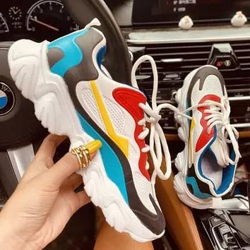 Flat-heel Casual Round-toe Lace-up Sneakers