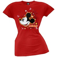 Mickey Mouse - Hearts & Stars Juniors T-Shirt