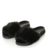 FURRY Slide Sandals - New In This Week - New In