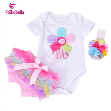 2015 New Carter Summer Baby Girl Outfits Flower Rompers Top And Ruffled Pant Newborn Infant Sets Girls Roupas De BeBe Menina