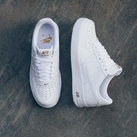 Nike Air Force 1 Low Crest Logo 82 WHITE GOLD Sneaker AA4083-102