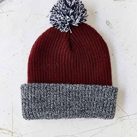 Pompom Brushed Beanie- Maroon One