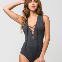 FULL TILT Lace Up Womens Bodysuit | Bodysuits