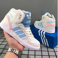 Adidas adidas classic retro casual shoes high-top sports shoes