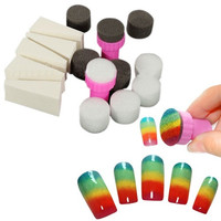 1 Set Nail Art Sponge Stamp Stamper Shade Transfer Template Polish Manicure Tool (Size: One Size, Color: Multicolor) = 5658857281