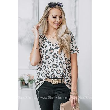 Taking A Vacay Cheetah Print Top
