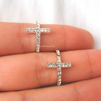Diamond Cross Ring - Gold and Silver