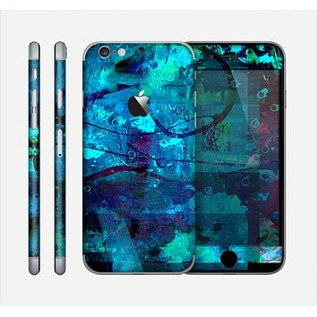 The Abstract Blue Vibrant Colored Art Skin for the Apple iPhone 6