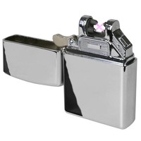 Flameless Wind Proof Electric Plasma Lighter (Silver)