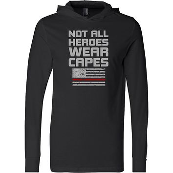 Firefighter Not All Heroes Wear Capes Lightweight Hoodie
