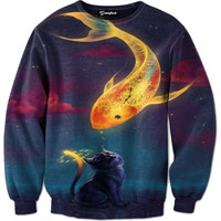 Fish and Feline Friends Crewneck