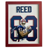Andre Reed Signed 3D Jersey Photo Autograph COA 16X20 Inscribed Buffalo Bills