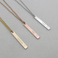 Custom Necklace Name Necklace Vertical bar Necklace Grandma Necklace Nana Necklace Mom Necklace Daughter necklace Mother's day gift