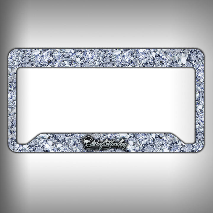 Image of Big Diamonds Custom Licence Plate Frame Holder Personalized Car Accessories