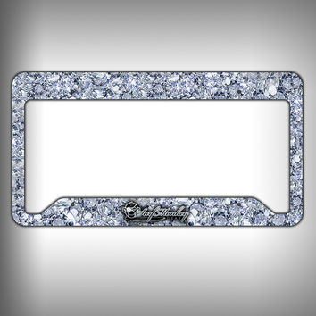 Big Diamonds Custom Licence Plate Frame Holder Personalized Car Accessories