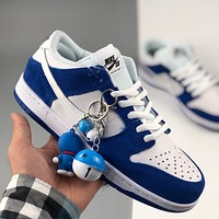 Nike SB Dunk Low x Dior Dunk Series Retro Low Top Casual Sports Skateboard Shoes Blue