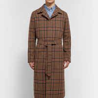 AMI - Checked Wool-Blend Coat