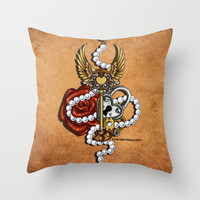Key To My Heart Throw Pillow by Katie Simpson   Society6