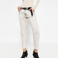 RELAXED FIT LOW - RISE JEANS-NEW IN-WOMAN | ZARA United Kingdom