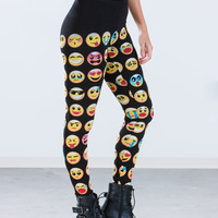 Emoji Print Leggings