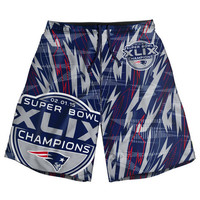 New England Patriots SB 49 Champions Official NFL Polyester Shorts