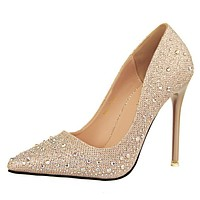 New Fashion Sexy Women Silver Rhinestone Wedding Shoes Platform Pumps Red Bottom High Heels Crystal Shoes Gold Black Pink