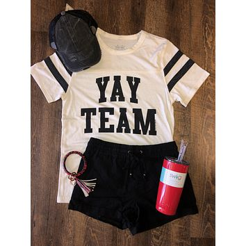 Yay Team Jersey Graphic Tee (S-2XL)