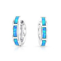Bling Jewelry Blue October Hoops