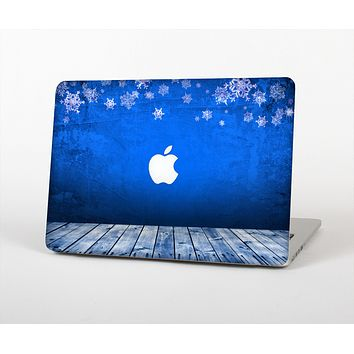 The Snowy Blue Wooden Dock Skin for the Apple MacBook Air 13""