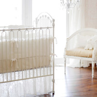 New Arrivals Velvet Baby in Ivory Baby Bedding