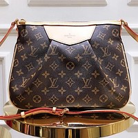 Hipgirls Louis vuitton LV Fashion new monogram leather shopping leisure shoulder bag crossbody bag