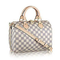 Tagre™ Authentic Louis Vuitton Speedy Bandouli¨¨re 25 Cross Body Leather Handles Bag Article: