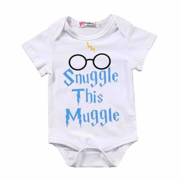 New Summer Rompers Kids Baby Girls Boys Harry Potter Clothes Romper Top Jumpsuit Outfits One-Pieces