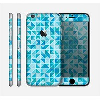 The Abstarct Blue Triangular Cubes Skin for the Apple iPhone 6