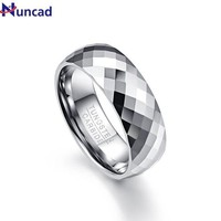 ac spbest Multi-faceted Vintage 8mm Men Ring 100% Tungsten Carbide Men's Jewelry Promise Band Anillos para hombres Pierscienie