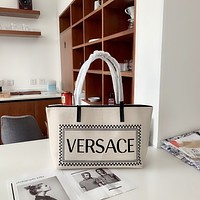Versace Women's Tote Bag Handbag Shopping Leather Tote Crossbody Satchel