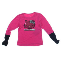 Hello Kitty Toddler Girls Sequined Casual Top