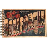 Wood Bound Journal Greetings from California
