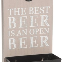 The best beer is an open beer Bottle Opener Wall Plaque