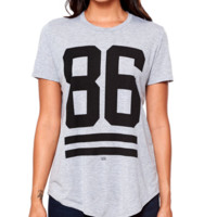 Young and Reckless 86 Stripe Long Scoop Tee