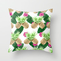 Tropical Fruits Throw Pillow by Grace