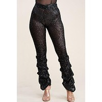 Disco Dreams High Waist Stacked Sequin Pant