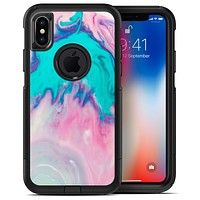 Marbleized Pink and Blue Paradise V432 - iPhone X OtterBox Case & Skin Kits