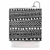 "Fimbis ""Redefined BW"" Black White Shower Curtain"