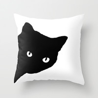 Meow Throw Pillow by Sherry Yuan   Society6