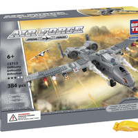 BRICTEK 15713 Air Force Fighter Plane Building Blocks 384pcs (Compatible with Legos) with Block Remover